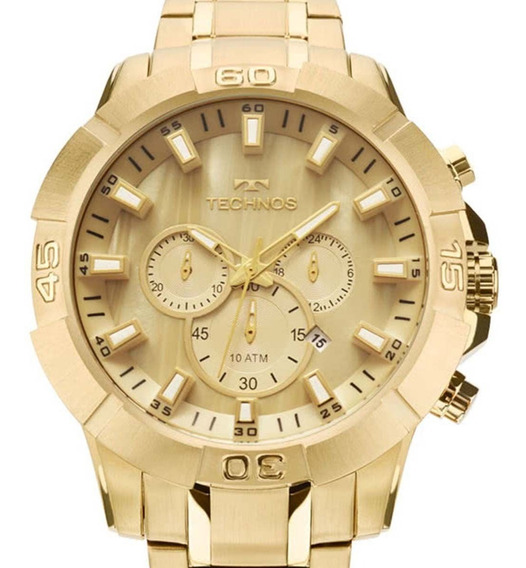 Relógio Technos Legacy Masculino Dourado Js26ae/4x C/ Nf-e