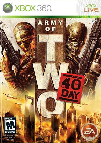 Army Of Two The 40 Th Day Midia Fisica Lacrada Xbox 360