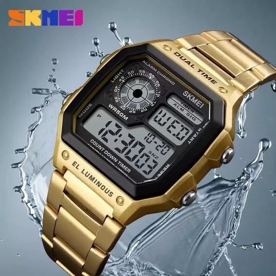 Relógio Masculino Skimei 1335 Pulseira Em Aço Inoxidável