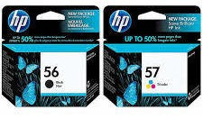 Kit Cartucho De Tinta 56 Black 57 Color Hp
