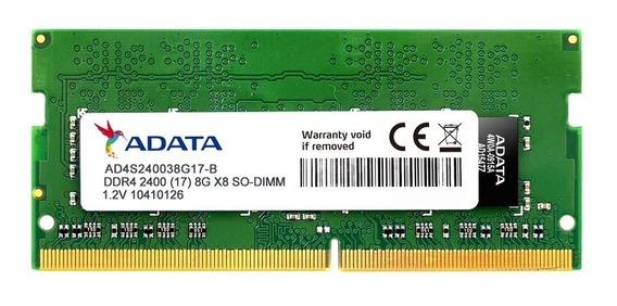 Memoria Ram Sodimm Notebook Adata Ddr4 2400mhz 8gb Garantia