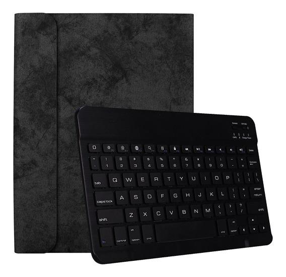 Tablet Sem Fio Bluetooth Key Case Preto + Teclado Preto