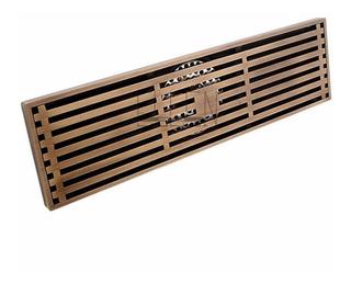 Coladera Lineal Para Baño O Patio De Laton Antiguo,30x8.3cm