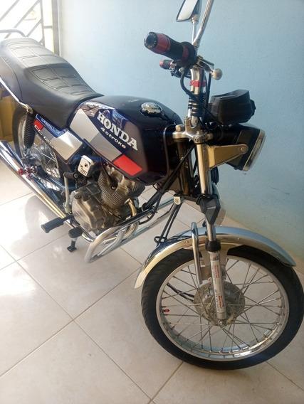 Honda Cg 125 Azul 1987
