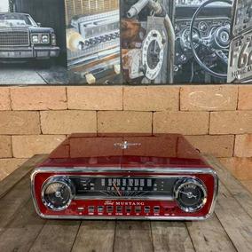 Toca Discos Lp Ford Mustang Com Rádio E Usb 110v