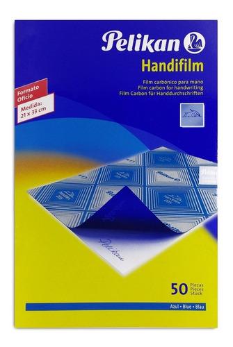 Papel Carbónico Formato Oficio Color Azul Pack X10 Unidades