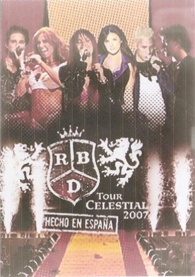 Dvd Duplo Rbd Tour Celestial 2007 Hecho En España - Sem Capa