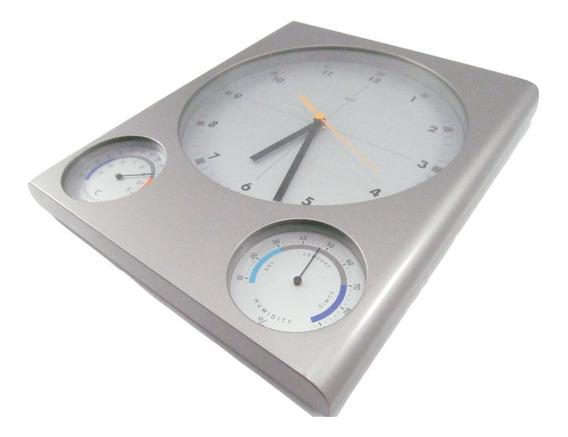 Reloj Pared -bai- Hora Humedad Temp 28x32 Usado (ver Fotos)