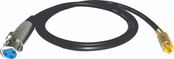 Cable Profesional Canon Xlr Hembra A Rca Macho Dorado X 1 M