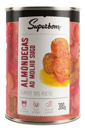 Imagem 1 de 1 de Almondegas Veganas Ao Sugo 400g - Superbom