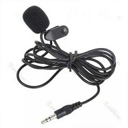 Microfone De Lapela 3.5mm Profissional Estéreo, P2.