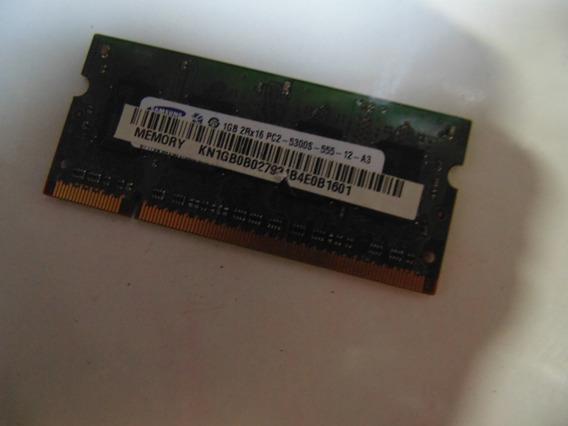 Memória P O Acer Aspire One Kav60 Samsung 1gb Pc2-5300s