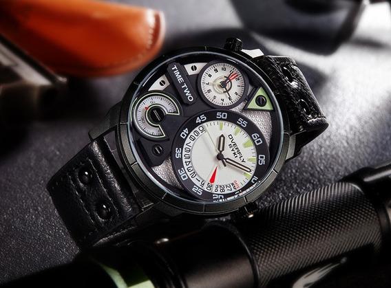 Relógio Pulso - Eyki Dois Horários 48mm - Vidro Hardlex