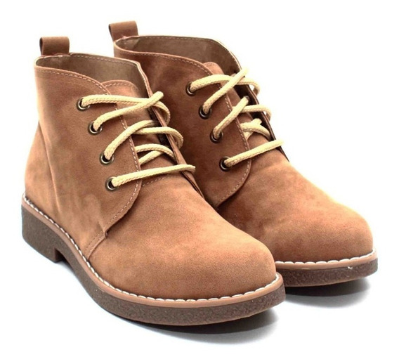 Botas Mujer Botitas Urbanas Zapatos Botinetas Gamuza Mujer