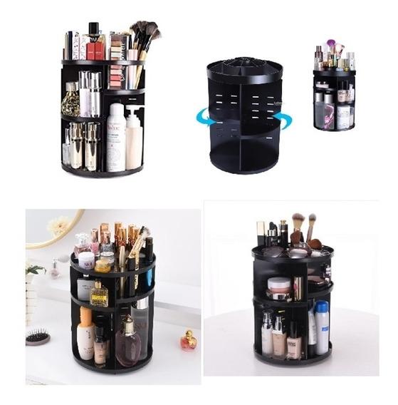 Caixa Organizador De Cosmeticos Giratorio Perfumes Maquiagem
