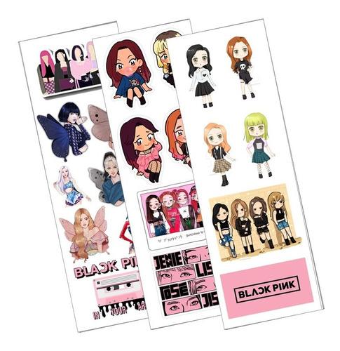 Plancha De Stickers De K-pop Black Pink