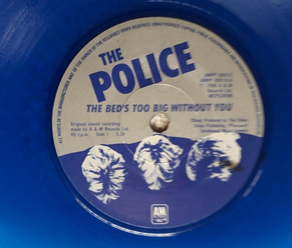 Vinilo Police Beds Too Big/truth Hits Blue Disc 1980