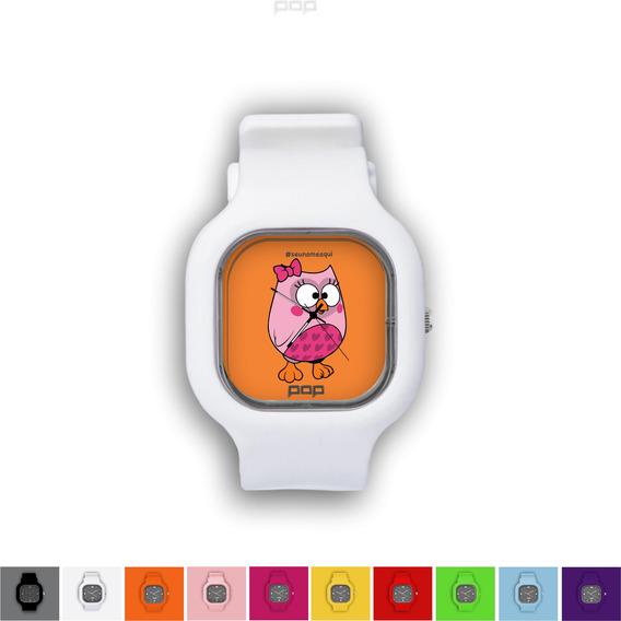 Relógio Pulseira Silicone Troca Cores Resistente Buburosa