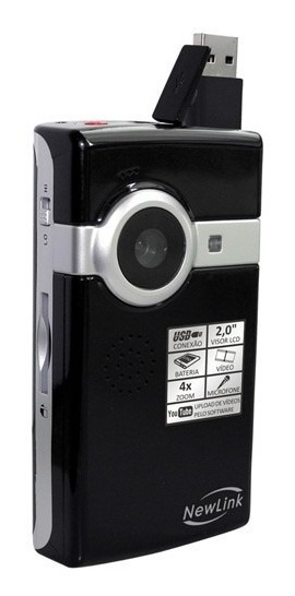 Vc103s Filmadora Digital Pocket Cam Hd Newlink C/ Hdmi