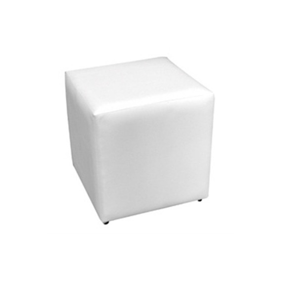Puff Corino 40x40cm Branco