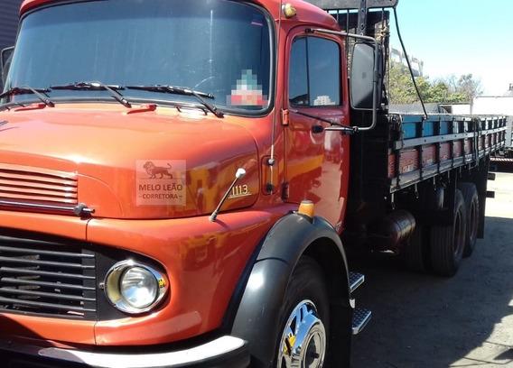 Mb L 1113 - 79/79 - Truck, Carroceria De Madeira Nova, Dh
