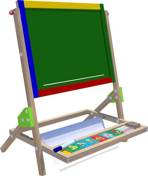 Lousa Quadro Didático Brinquedo Educativo Madeira Infantil