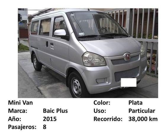 Mini Van Baic Plus 8 Pasajeros Plateada 2015 Uso Particular