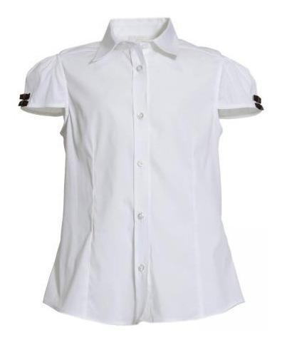 Blusa Gucci Niña Talla 12 Blanca Moños Italiana Uso