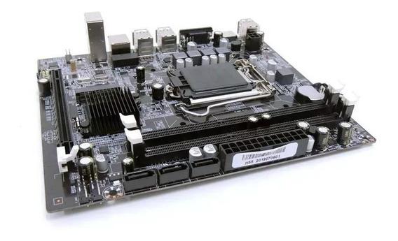 Placa Mãe Chipset Intel H61 Lga 1155 Para I3, I5 E I7 Até 16gb Nova