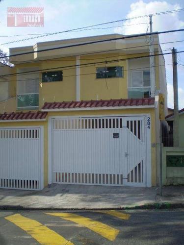 Sobrado Residencial À Venda, Vila Helena, Santo André. - So0194
