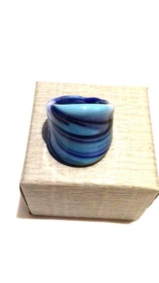 Anillo De Murano Azul Veneciano