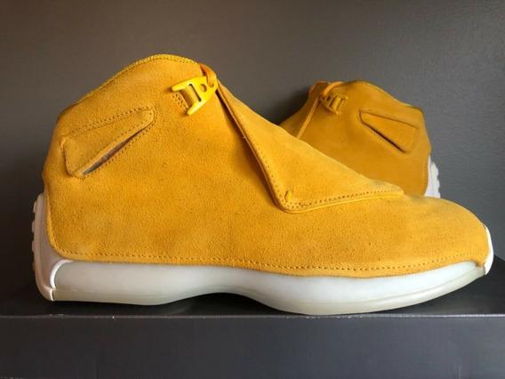 Jordan Retro 18 Yellow Suede Tallas 7/7.5/8/8.5/9/9.5mx