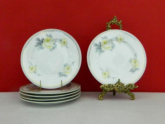 Juego 6 Platos Para Lunch De Porcelana Limoges Ahrenfeldt