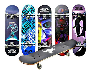 Tabla De Skate Patineta Diseño Variados Semiprofesional