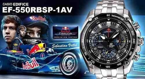 Relógio Casio Edifice Red Bull Ef550 Prata