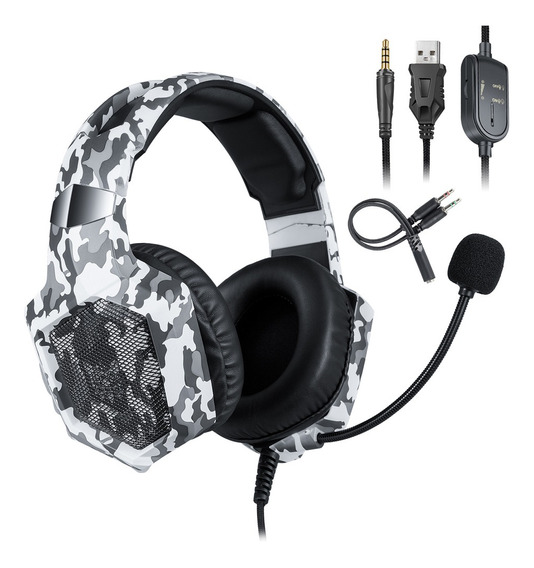 Onikuma K8 3.5mm Gaming Headset Estéreo Over-ear Fones De Ou