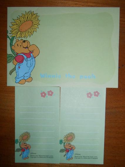 Lote Papel De Carta Pooh: 31 Itens