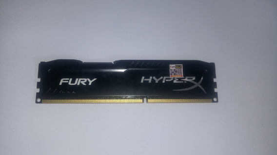 Memória Ddr3 Hyperx Fury 4gb 1600mhz Preta Semi-nova