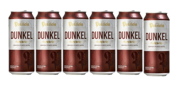 Cerveza Patricia Dunkel Lata 473 C Pack X 6 Unidades