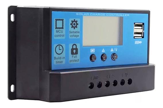 Controlador De Carga Pwm 10a - 12/24v - Energia Solar