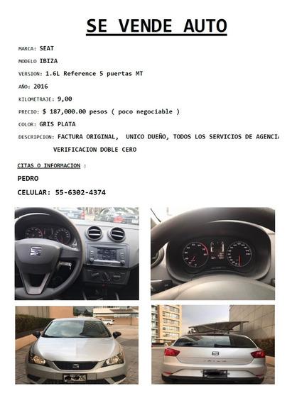 Seat Ibiza 1.6 Reference 5p Mt 2016