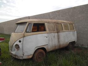 Volkswagen Kombi Ano 66 Placa Amarela Sem Motor Lata Boa
