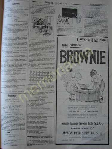 Antigua Publicidad 1911 Camara Fotografica Brownie