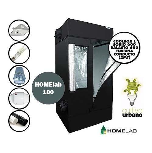 Carpa Cultivo Indoor Kit Combo Homelab 100 Flora