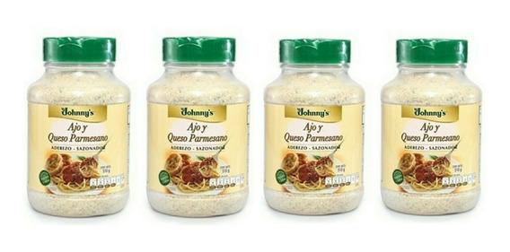 4 Aderezo-sazonador Ajo Y Queso Parmesano Jhonny´s 510 G C/u