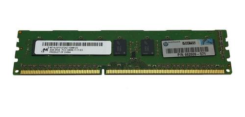 Memoria Ecc Udimm 4gb Pc3-12800e Hp Proliant Ml110 G6 E G7