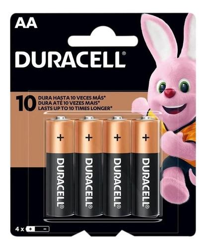 Imagem 1 de 6 de 4 Pilhas Duracell Duralock Alcalina Aa Embalagem C/4 Unids