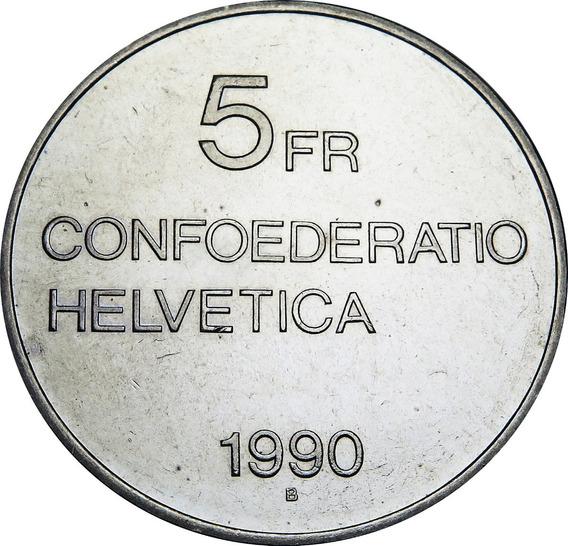 .: Suiza 5 Francos 1990 - Gottfried Keller :.