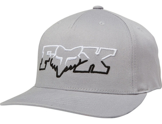 Gorra Fox Duel Head 110 Sb Gris Moda Casual Lifestyle