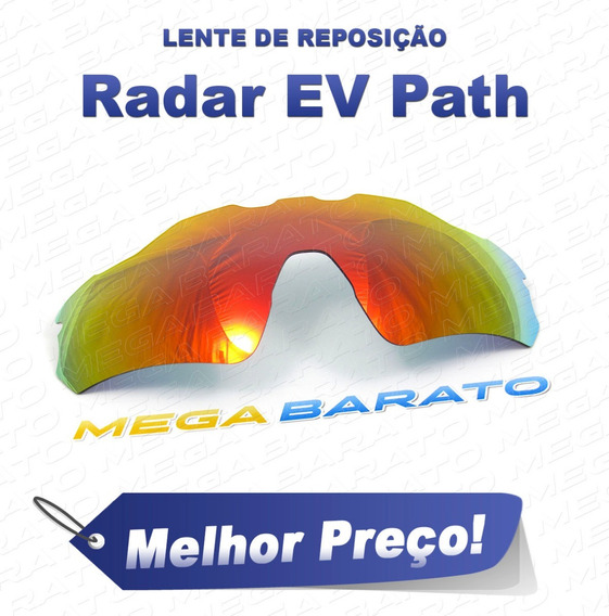 Lente Óculos Radar Ev Path Vermelha Fire Red Polarizada